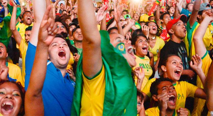 As receitas, por torcedor, dos 18 maiores clubes do Brasil